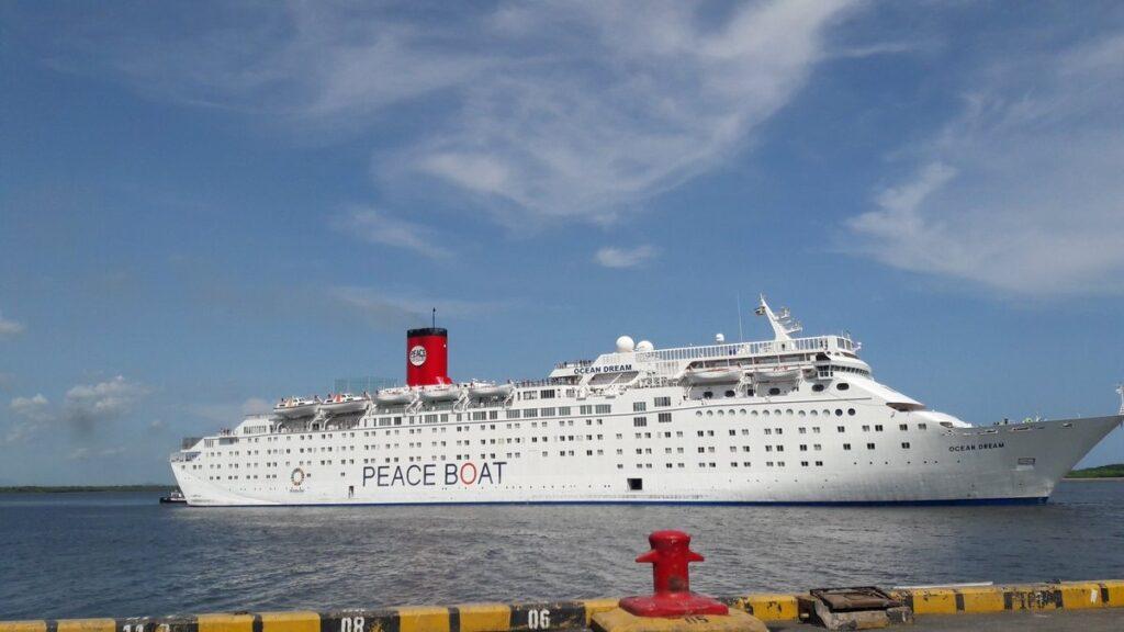 El Barco de la Paz, en una de sus visitas a Nicaragua