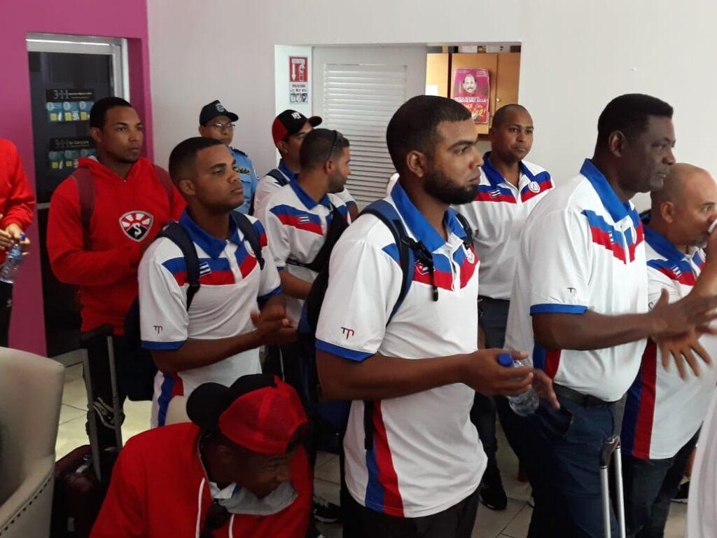 Cuba arribó hoy a Managua para una serie amistosa de béisbol contra Nicaragua