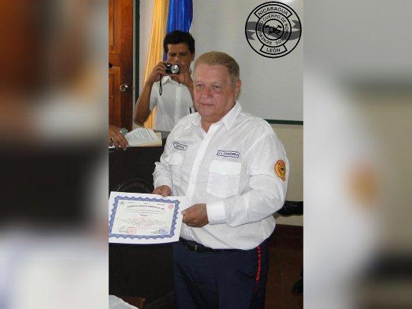 El capitán de bomberos José Luis Chamorro