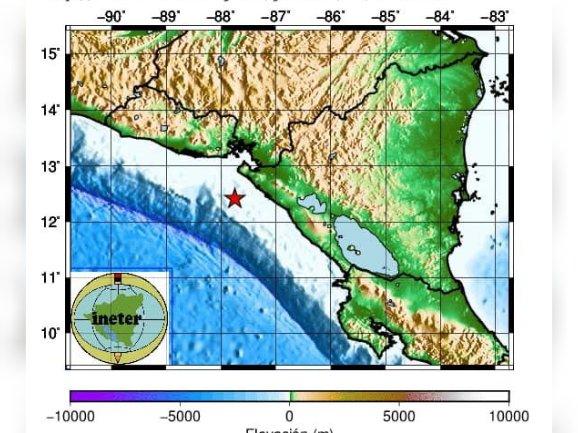 El sismo ocurrió este lunes a las 5:30 am
