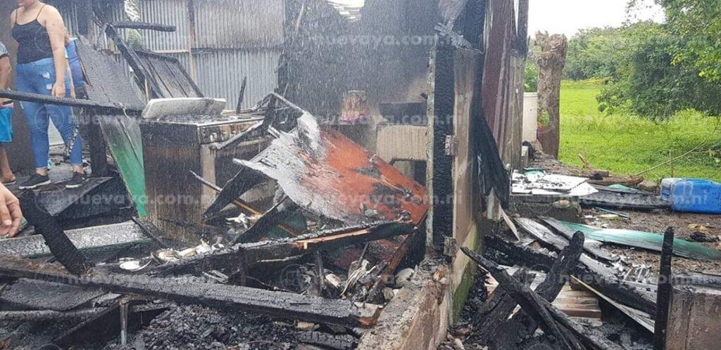 Incendio en casa de Ciudad Sandino/ Referencial
