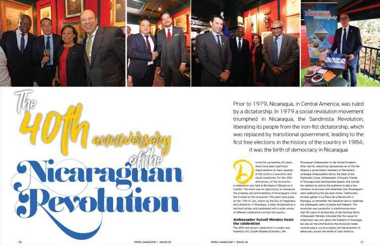 Kreol Magazine publicó un extenso artículo sobre el 40 Aniversario de la Revolución Sandinista en Nicaragua