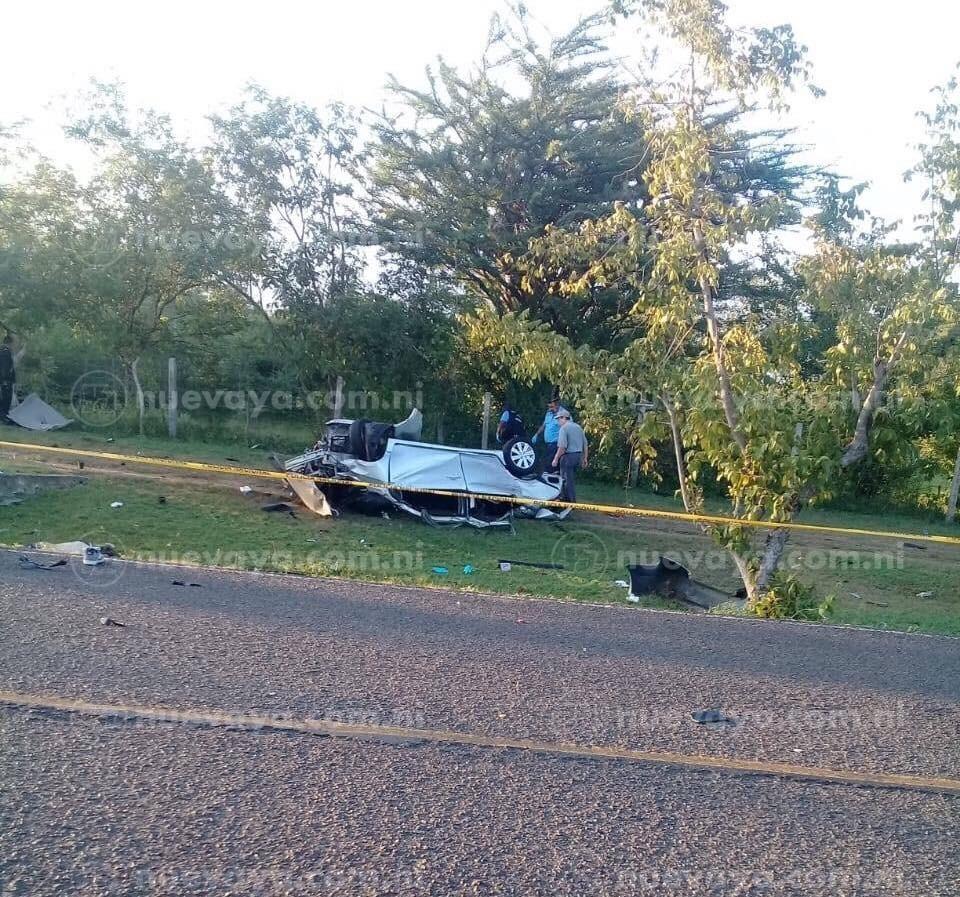Tres personas perdieron la vida en un accidente de tránsito en Somoto