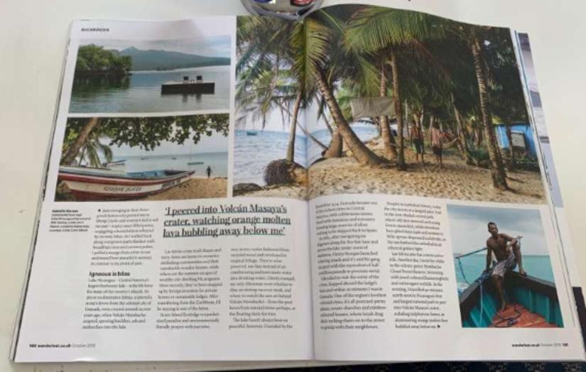 Artículo sobre Nicaragua Revista Wanderlust,