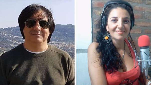Rodolfo Ridado y la locutora Claudia Vázquez