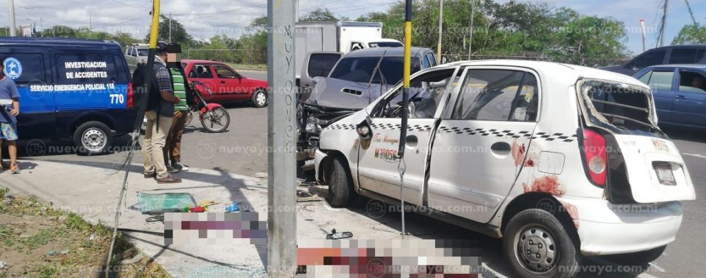 Un desconocido murió esta mañana en un accidente frente al Hospital Roberto Huembes