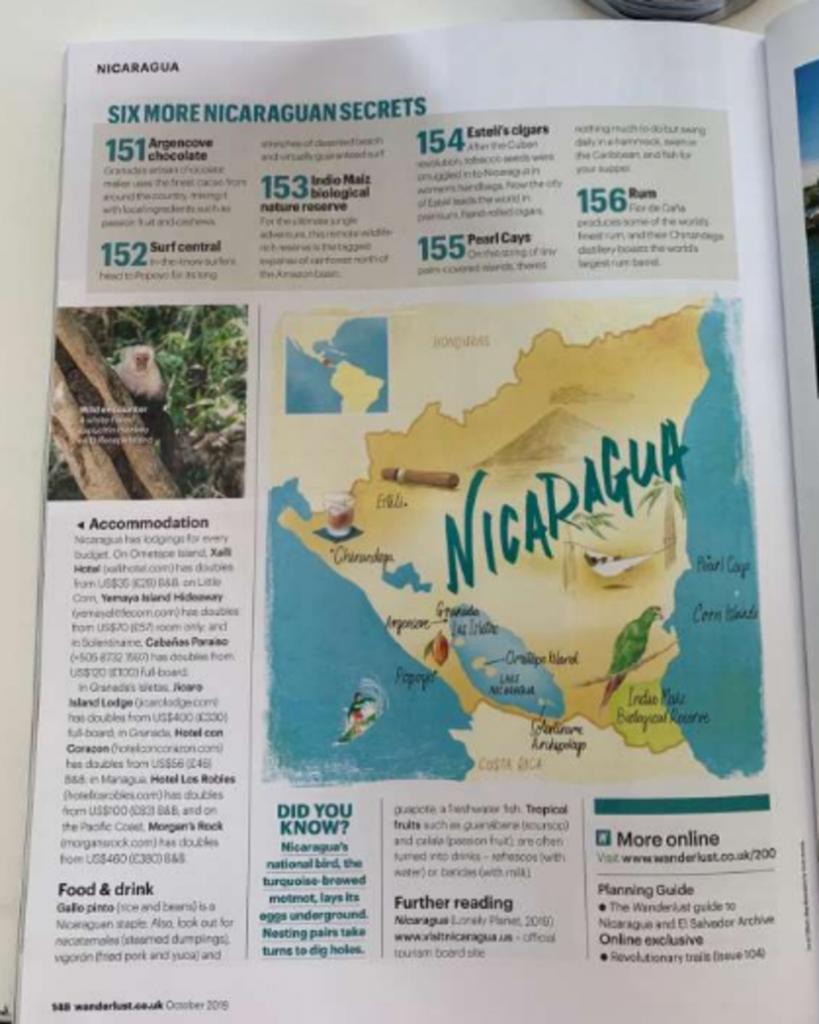 Nicaragua Revista Wanderlust Artículo sobre