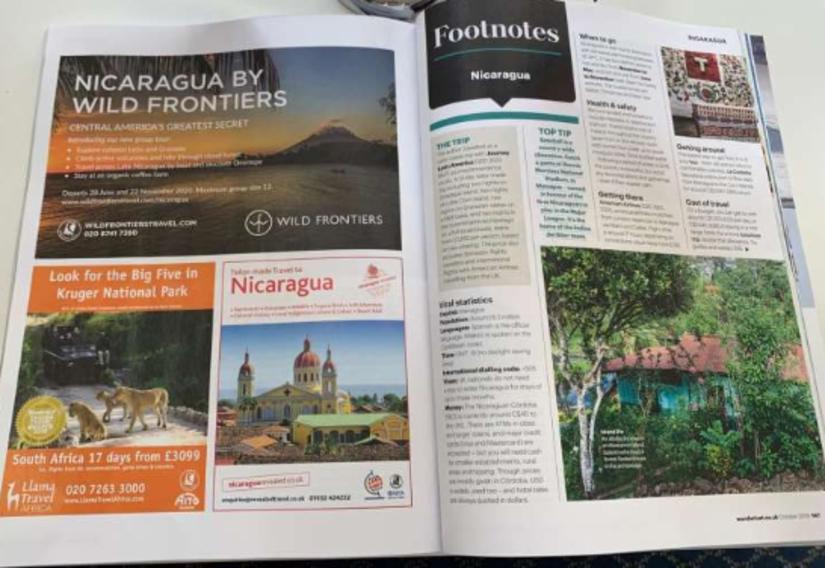 Revista Wanderlust Artículo Nicaragua
