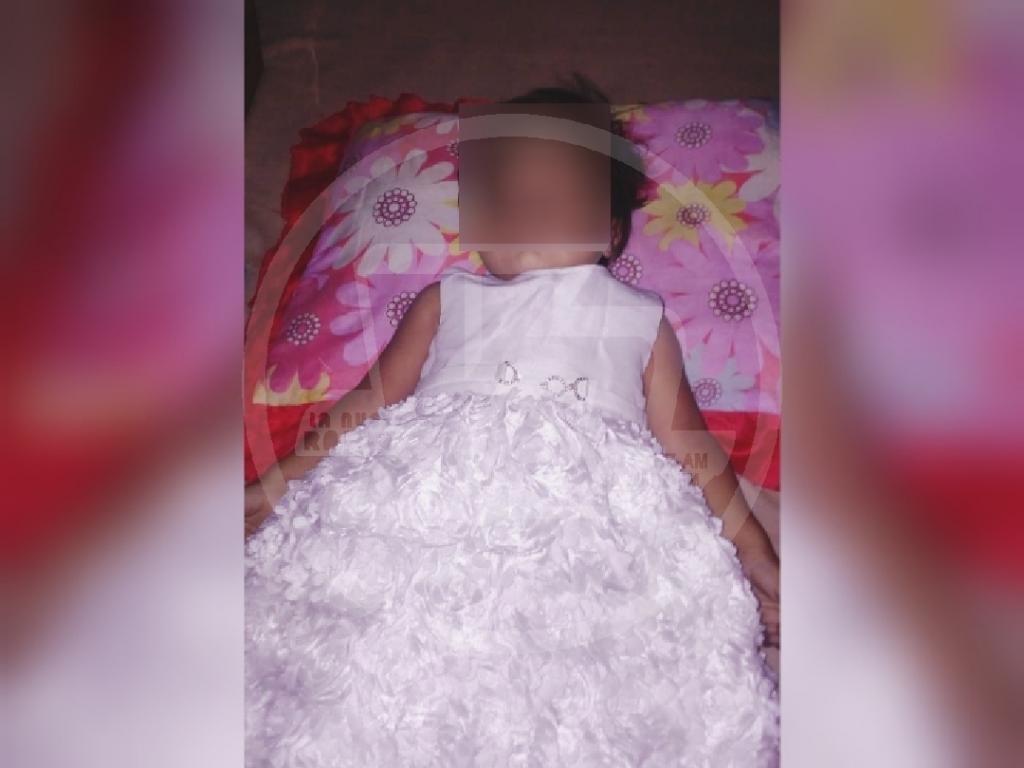 La niña Morales Sánchez falleció tras caer en un balde con agua mientras daba sus primeros pasos