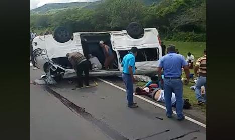 Accidente en carretera norte