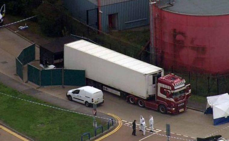 Camión con cadáveres Inglaterra