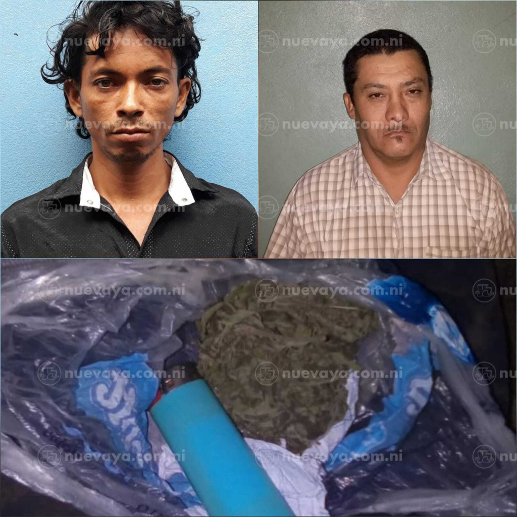 Capturados con marihuana en el departamento de Jinotega