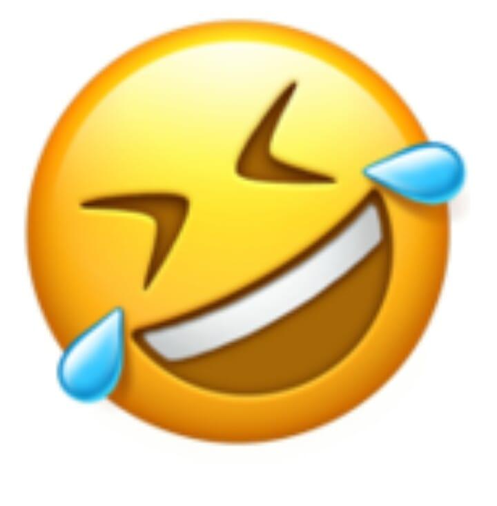 Muerto de risa emoji