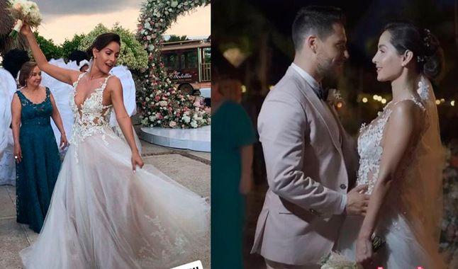 Carmen Villalobos en su boda