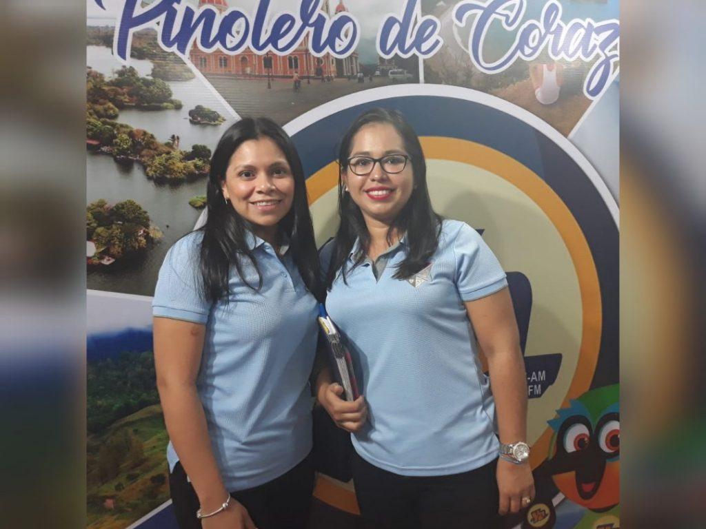 Ericka Vanegas y Jeniffer del Castillo de Correduría de Seguros Express