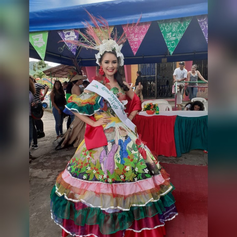 Martha Ivania Zeledón Castillo, la Reina del Café Jinotega 2019