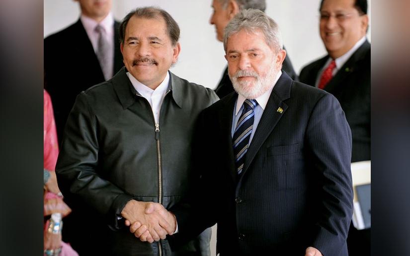 El Presidente Daniel Ortega junto al líder brasileño Lula Da Silva