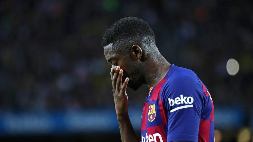 Dembélé fue sancionado con dos fechas y no podrá estar en el clásico