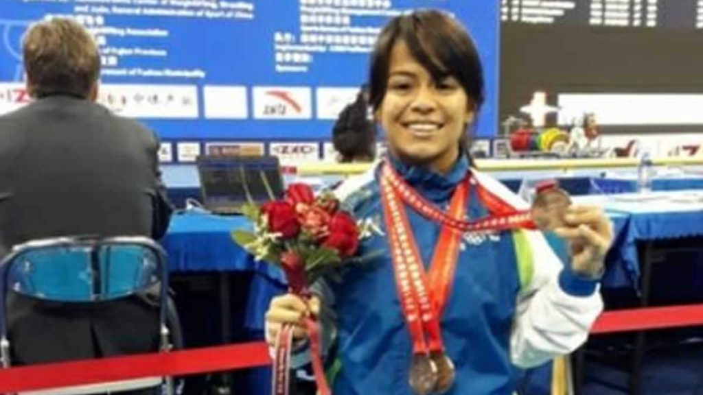 La atleta nicaragüense María Alejandra Navarro. Foto Cortesía Viva Nicaragua Canal 13