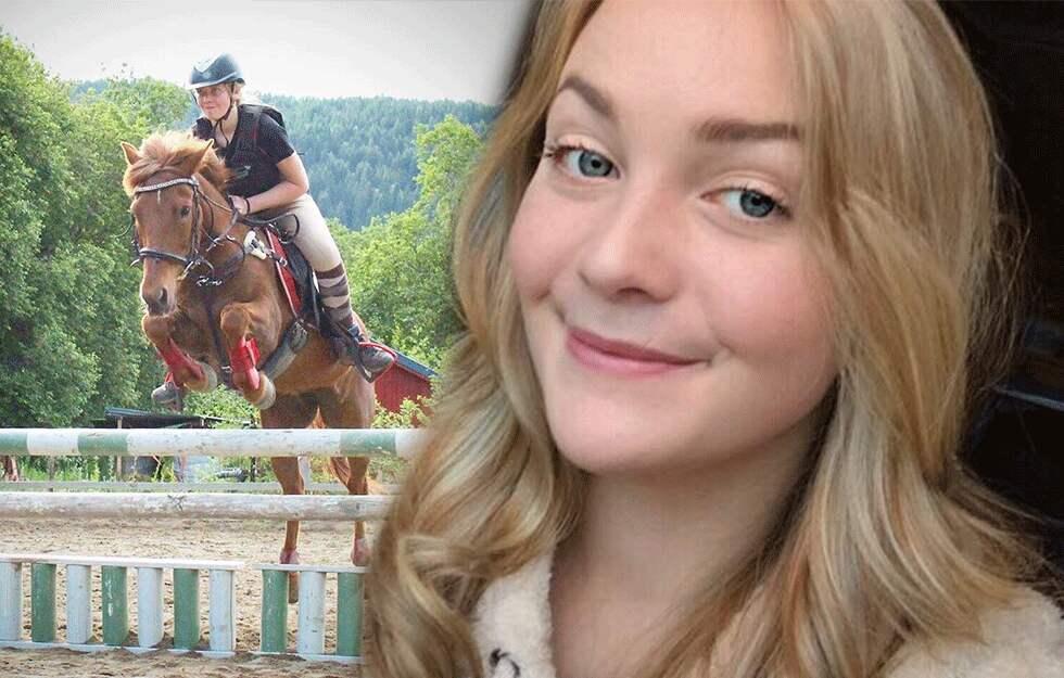 Pia Olden y su caballo