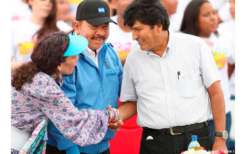 Presidente Daniel y Evo Morales