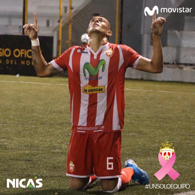 Real Estelí sigue líder del torneo de fútbol de Nicaragua. Foto @realestelifc
