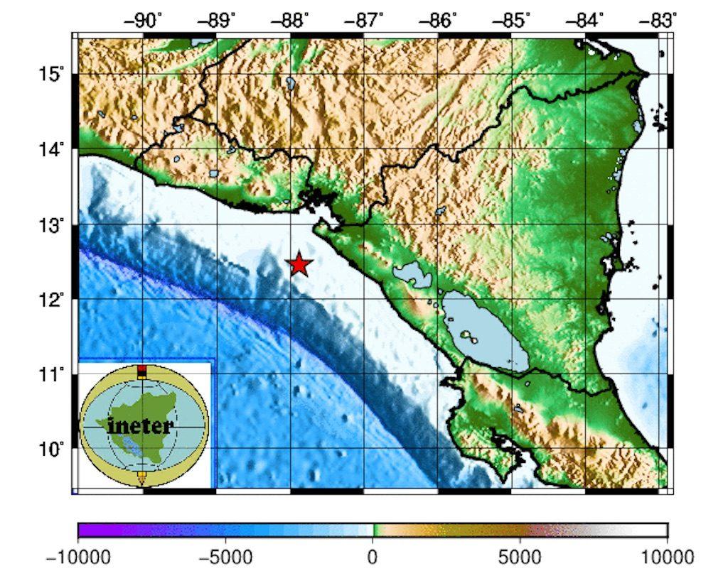 Un sismo de magnitud 4.3 sacudió este domingo Chinandega