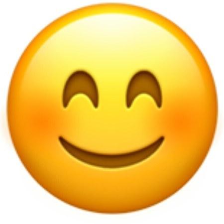 Rostro y ojos sonrientesemoji