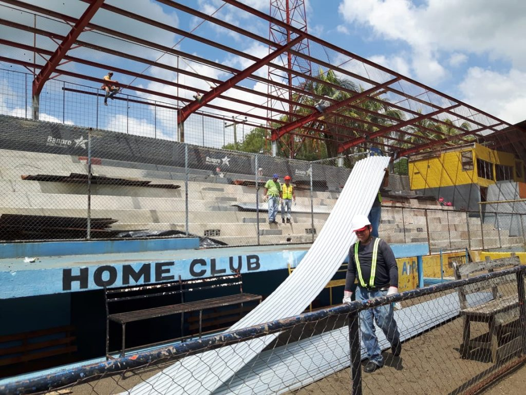 El estadio de Chinandega está siendo remodelado