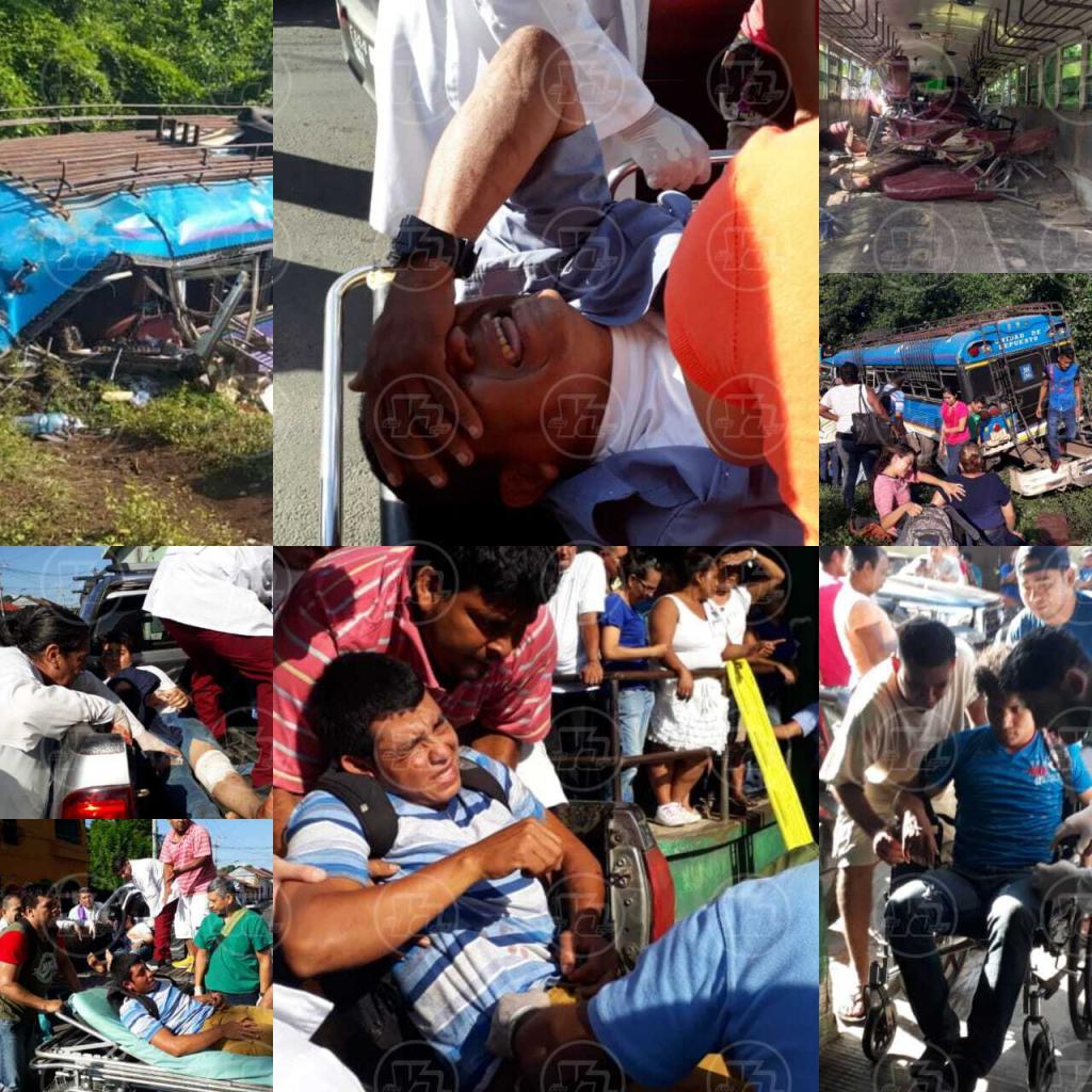 Revelan lista de 50 pasajeros de bus heridos en accidente de tránsito, en León