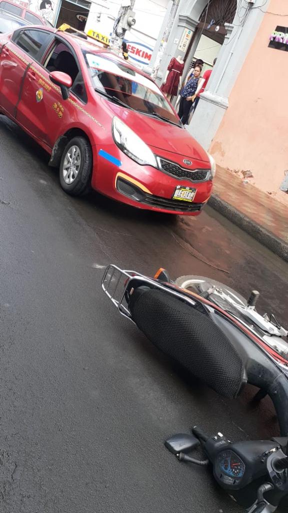 Motociclista accidentado