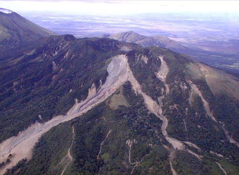Deslave del volcán Casita