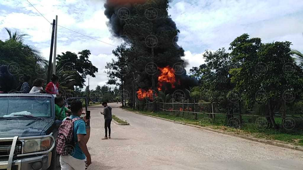 Incendio en Puerto Cabezas