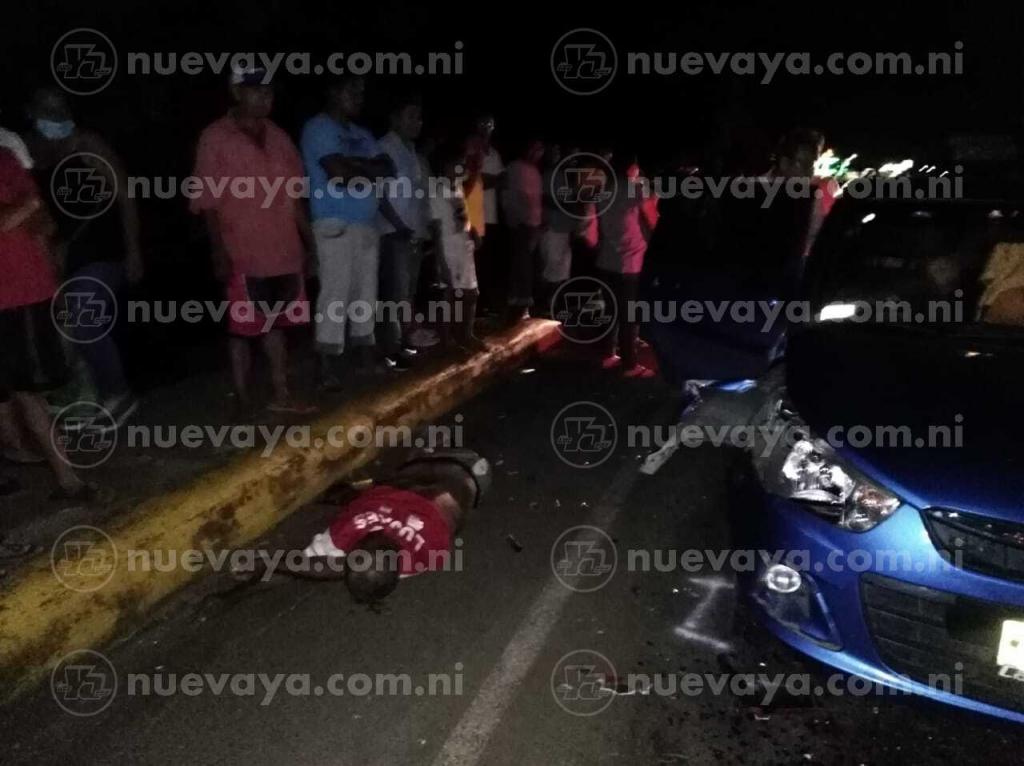 Motociclista perece al estrellarse contra camioneta en empalme Tipitapa-Masaya - Radio YA