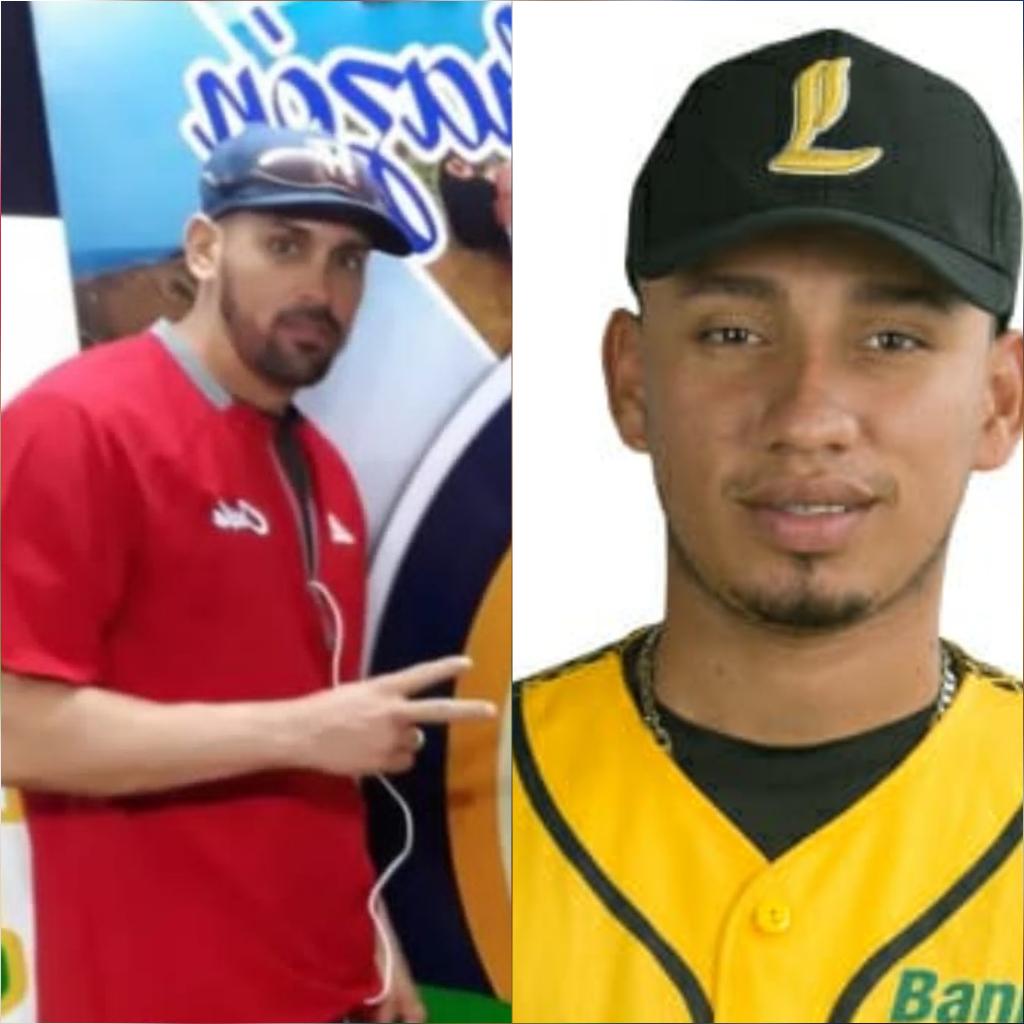 Los pelotero Junior Paumier y Nelson León