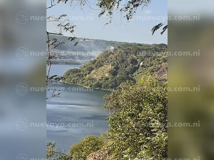 Personas irresponsables causaron un incendio en la Laguna de Masaya
