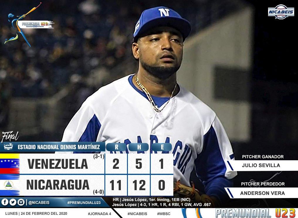 Cousin consigue victoria a Cuba por 4-0 a Venezuela
