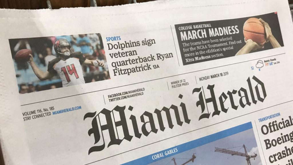 La empresa dueña del Miami Herald se declaró en bancarrota