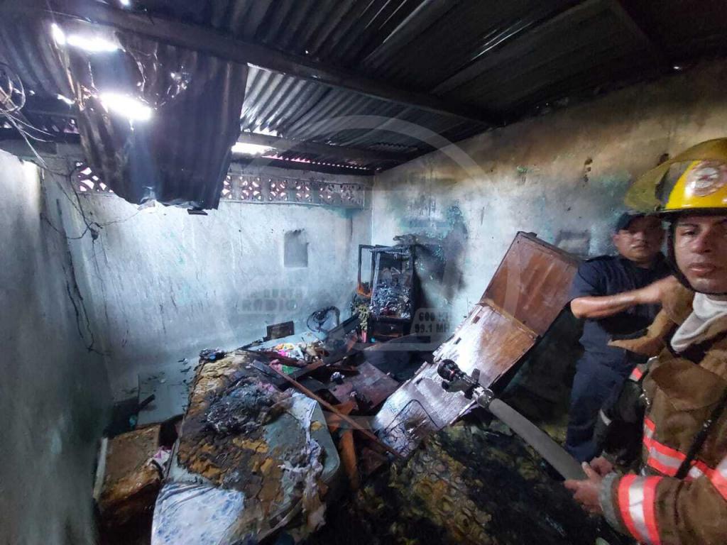 Incendio en barrio Julio Buitrago