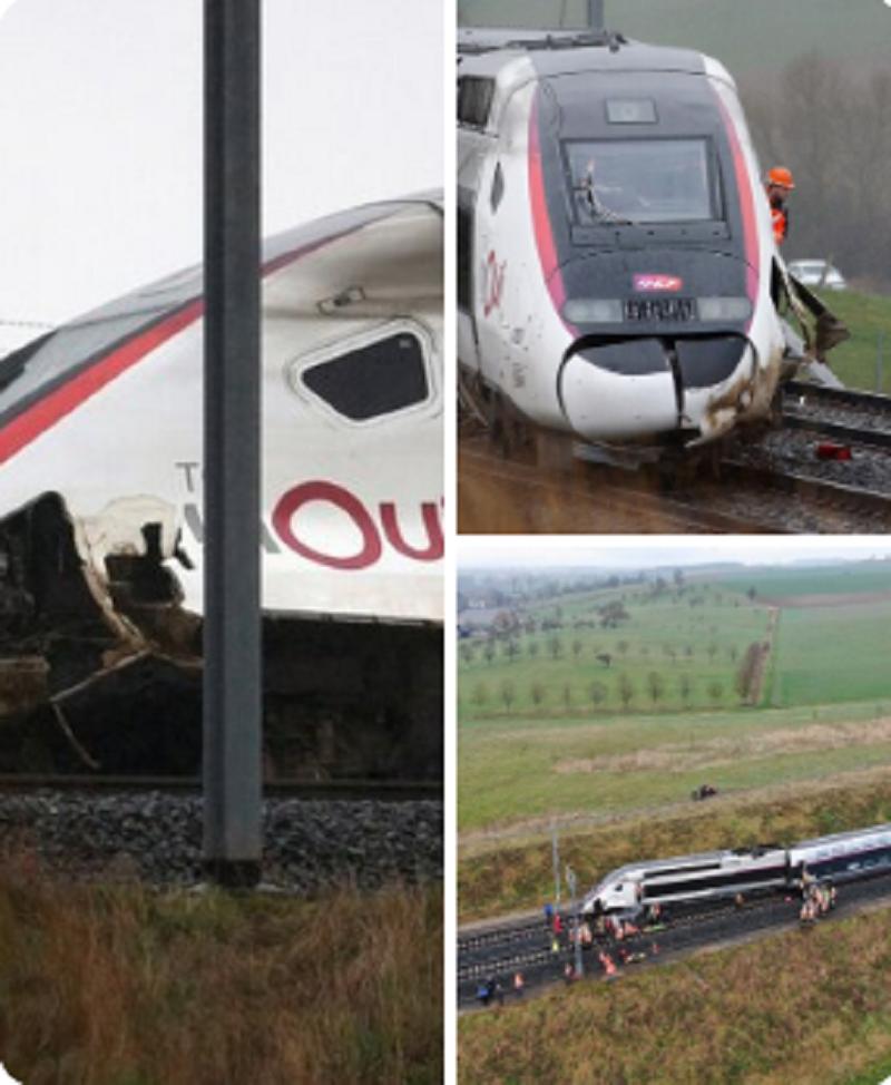 Descarrilamiento de tren en Francia