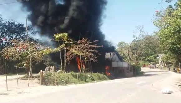 Incendio en negocio de combustibles en Jinotega