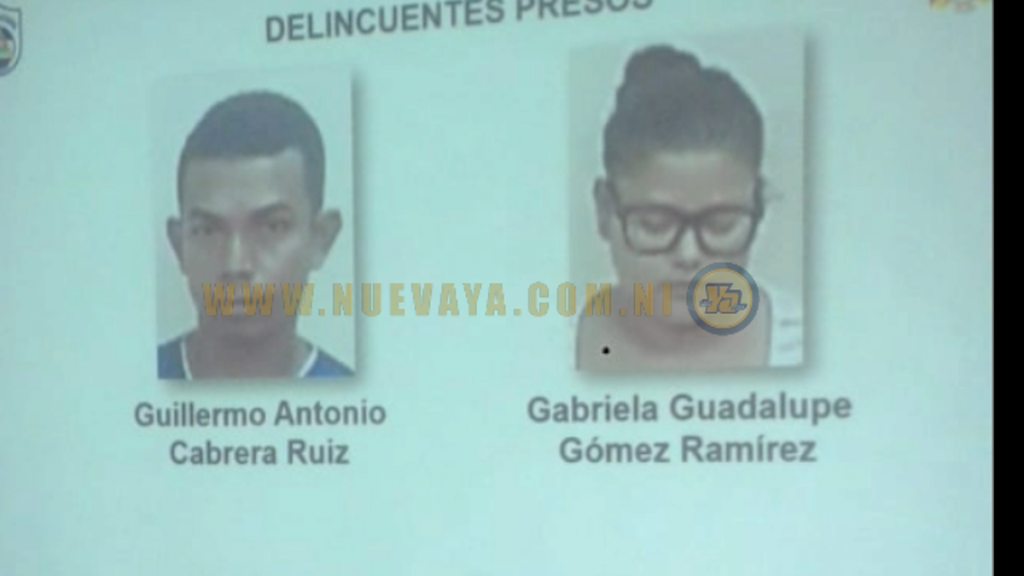 Fueron detenidos Guillermo Cabrera Ruiz y Gabriela Gómez Ramírez