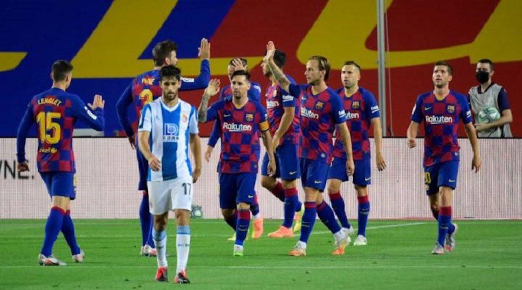 Barcelona vence 1-0 al Espanyol y mete presión al Real Madrid