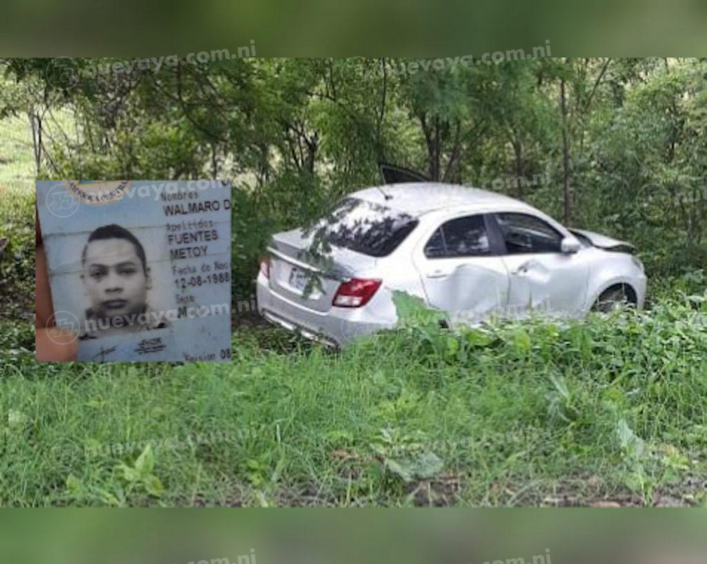 Wálmaro de Jesús Fuentes Metoy sobrevivió a este accidente de tránsito en Jinotega