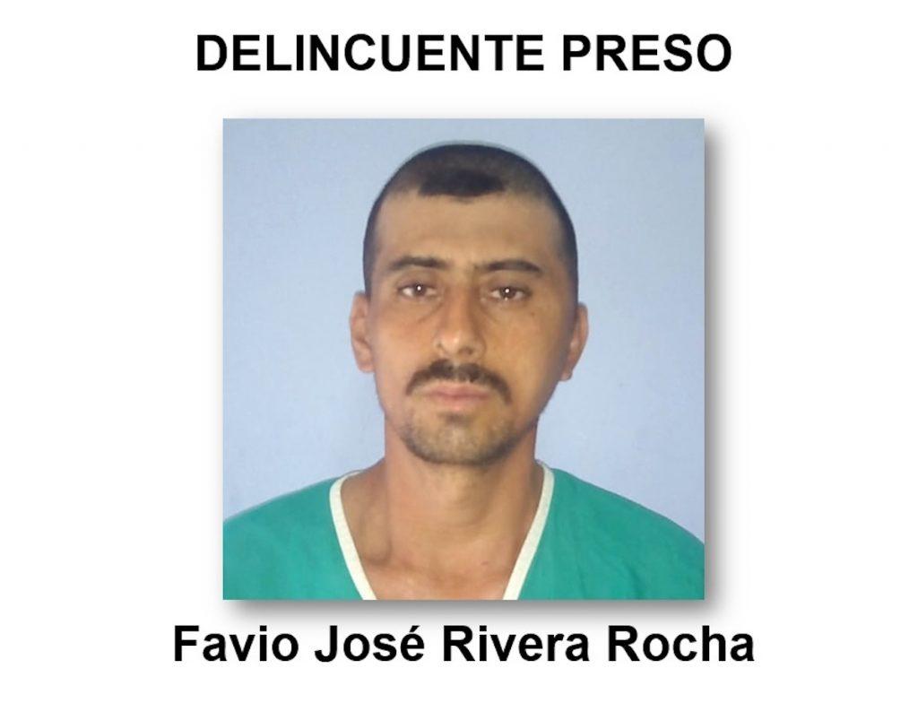 El delincuente Favio José Rivera Rocha