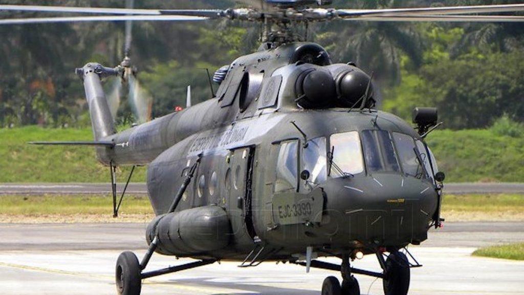 Accidente de un helicóptero UH-60 Black Hawk del Ejército de Colombia