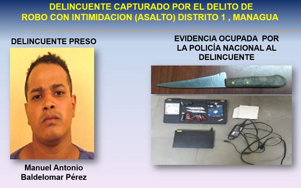 Manuel Antonio Baldelomar Pérez fue arrestado