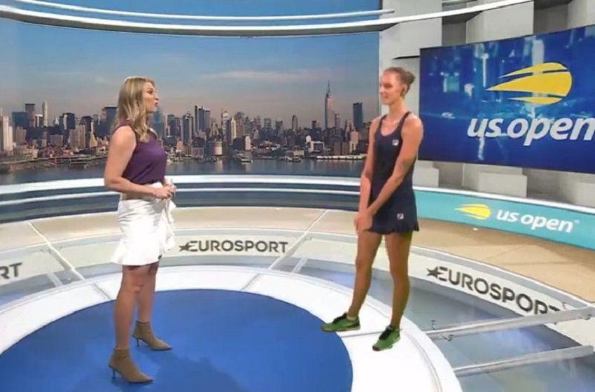 Holograma: La innovadora forma de entrevistar a una tenista del US Open