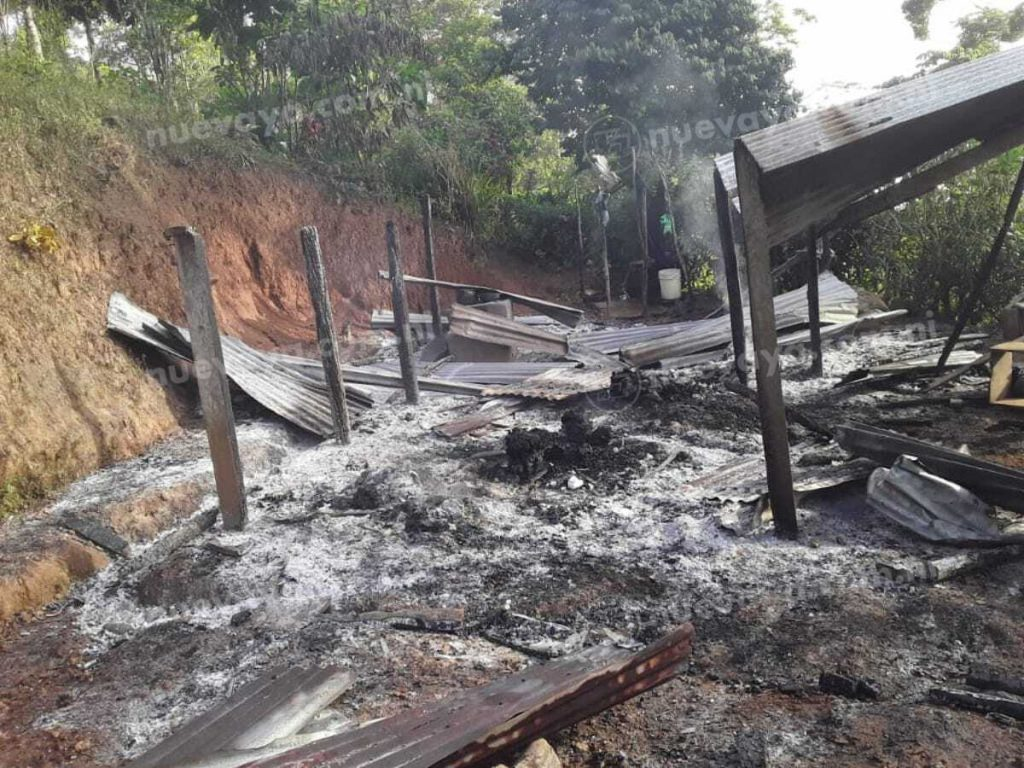 Casa quemadas en Waslala