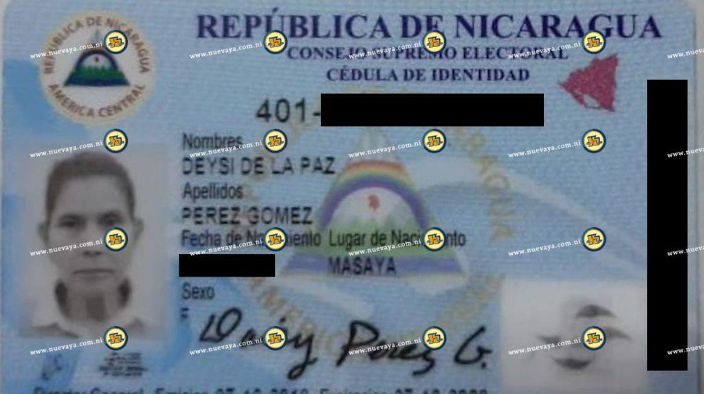 Deysi de la Paz Pérez Gómez